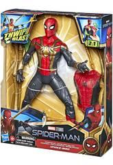 Spiderman Figura Lanzaredes 30 cm. Traje de Integración Hasbro F0238