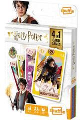 Carte da gioco per bambini Shuffle 4 in 1 Harry Potter Fournier 10025070