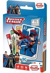 Justice League Fournier 4 in 1 Shuffle Deck pour enfants 10025071