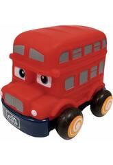 Bus rouge rétrofriction pour enfants