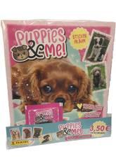 Puppies & Me! Starter Pack Álbum con 4 Sobres Panini