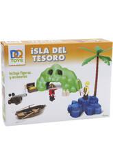 Playset Isola Pirata Con Grotta Del Tesoro