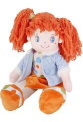 Bambola di pezza 45 cm Codine arancioni