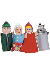 4  marionnettes Doigts Contes Infantiles