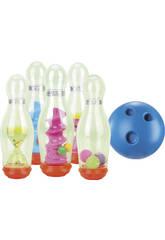 Gioco Bowling 7 pezzi Birilli 25 cm e Palla 12 cm.