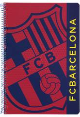 Cahier Feuilles Couverture Dure 80 p F.C Barcelone
