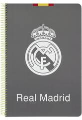 Cahier Feuilles Couverture Dure 80 p. Real Madrid
