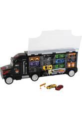 Camion 60 cm Portaveicoli con 8 auto e camion