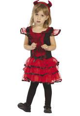 Disfraz Diablesa Telarañas Bebé Talla M