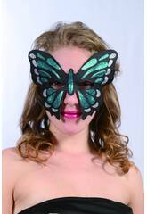 Masque Glitter Papillon Vert
