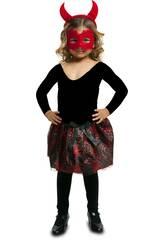 Disfraz Niña S Tutú Diablesa