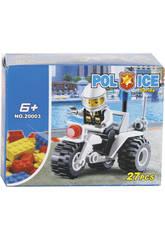 Gioco di costruzione Moto Polizia de 27 pezzi