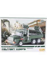 Jogo de Construção Veículo Militar Lança Mísseis 237 Peças