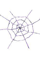 Tela de araña Lila-Negra 150x150 cm.
