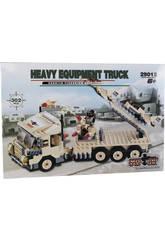 Camion Militaire Avec Plateforme 302 Pièces