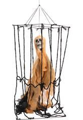 Jaula Colgante Con Esqueleto Naranja 40x30x100 cm.