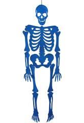 Esqueleto Azul Eva Con Brillo 155 cm.