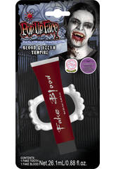Set Vampire Avec Sang et Dentier