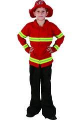 Déguisement de pompier pour garçon taille L