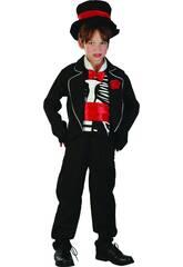 Costume Vampiro Scheletro Ragazzo XL
