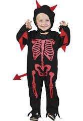 Disfraz Monstruo Esqueleto Bebé Talla S