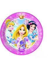 Princesses Glamour Pack 8 Assiettes 23cm.