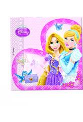 Princesses Glamour Pack 20 Servillettes 33x33cm