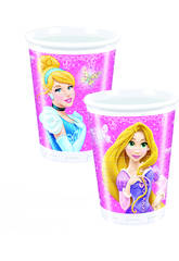 Princesas  Glamour pack 8 vasos 200 ml.