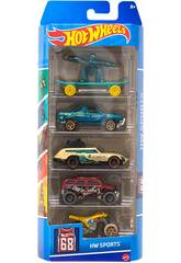 Hot Wheels Pack 5 Vehículos de Juguete Mattel 1806