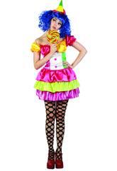 Déguisement clown couleurs femme taille XL
