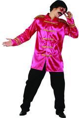 Disfraz Estrella del Rock Rosa Hombre Talla L