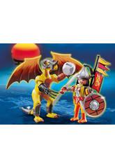 Playmobil Dragon de Roche avec Guerrier