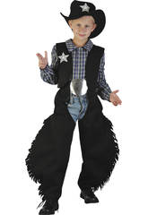 Costume Cowboy Nero Ragazzo XL