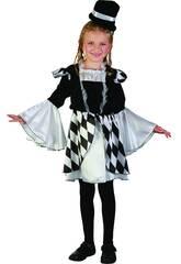 Disfraz Arlequina Niña Talla S