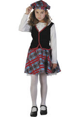 Disfraz Escocesa Niña Talla S