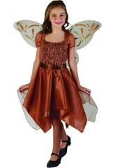 Maschera Farfalla Bambina Marrone Taglia S