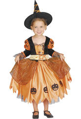Disfraz Bruja Calabaza Bebé Talla M