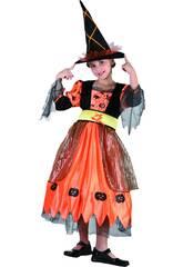 Disfraz Bruja Pumpkin Niña Talla L