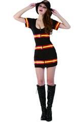 Kostüm Feuerwehrfrau Frau Größe XL