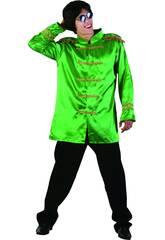 Disfraz Estrella del Rock Verde Hombre Talla L