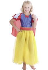 Maschera Principessa delle Nevi Fiocco Bambina Taglia XL