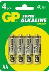 Blister 4 piles R6/AA Alcalines G.P