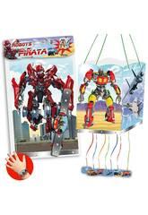 Sac Piñata Robots 4 Figures