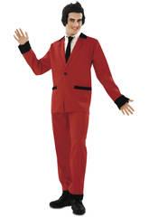Disfraz Hombre L Rockabilly Rojo