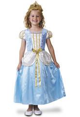 Déguisement Fille M Princesse Bleu de Luxe