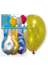 Sac de 12 ballons gonflables métallisés