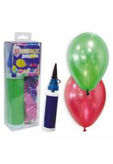 30 Palloncini metallizzati più pompa