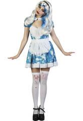 Kostüm Blutversschmiertes Hausmädchen Frau Größe L