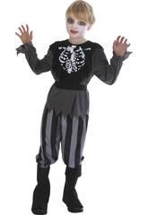 Déguisement Pirata Squelette Garçon Taille M