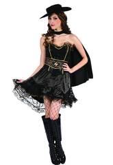 Maschera Bandita Rifiniture Gialle Donna Taglia XL